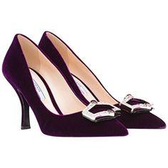 Pre-owned - Velvet heels Prada nOw2s6G5