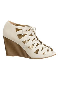 Lucy lace up wedge (original price, $34) available at #Maurices