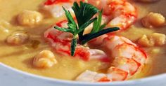 Vellutata di ceci e gamberi | Cucina | Pinterest | Soup Recipes, Chickpeas and Soups