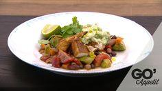 Rubbet mexi kylling- frijoles- korianderdip