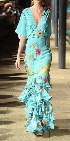 Dresses Sexy V-Neck Blue Floral Print Fishtail Evening Dress Maxi Dress, Shop more classy dresses on Ininruby.Sexy V-Neck Blue Floral Print Fishtail Evening Dress Maxi Dress, Shop more classy dresses on Ininruby. Elegant Maxi Dress, Sexy Maxi Dress, Classy Dress, Belted Dress, Boho Dress, Sexy Dresses, Evening Dresses, Fashion Dresses, Dresses For Work