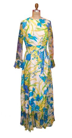 Saks 5th Avenue Private Label Silk Gown by nelsonbridge on Etsy