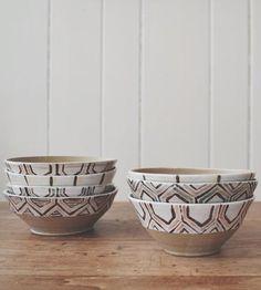 Rustic Geometry Ceramic Bowl