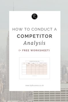 How to conduct a competitor analysis. This is a key element of your Marketing Plan! Marketing Strategy Template, Content Marketing Strategy, Sales And Marketing, Business Marketing, Mobile Marketing, Email Marketing, Internet Marketing, Digital Marketing, Social Media Measurement