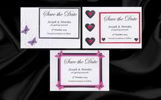 10 20 25 50 Handmade Save the Date cards