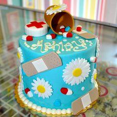 Girly Cute Nurse Nursing Nurses Cake www.LeahsSweetTreats.com