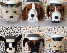 Dog Lover Mugs Crochet Patterns Crochet Kits by HookedbyAngel