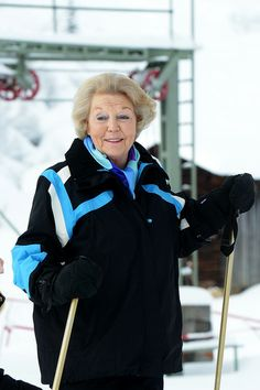 Princess Beatrix of The Netherlands attends the annual winter photocall on February 17, 2014 in Lech, Austria.