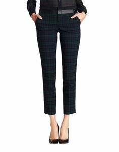 Petites Black Watch Plaid Pants | Lord and Taylor