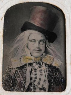 """Actor dressed as a """"Mad Hatter"""", 1800s  In 18th and 19th century England mercury was used in the production of felt, which was used in the manufacturing of hats common of the time. People who worked in these hat factories were exposed daily to trace amounts of the metal, which accumulated within their bodies over time, causing some workers to develop dementia caused by mercury poisoning. Thus the phrase """"Mad as a Hatter"""" became popular as a way to refer to someone who was perceived as…"""