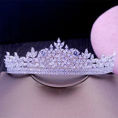 New AAA CZ  Bridal Wedding Tiara Crown Hair Accessories Jewelry Birthday Party Crown Headpiece HG1177 #Affiliate