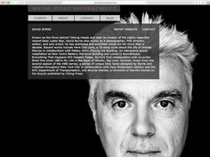 Web design by Think Studio for Maine Road Management, the firm that represents artists like David Bowie, David Byrne, and Joe Henry.