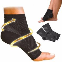 0c6df2635c Smerte Lettelse Ankel Kompression Sok Ankle Socks, Foot Socks, Heel Pain,  Foot Pain