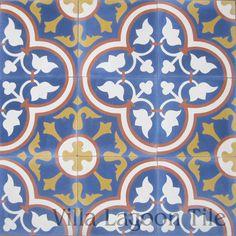 "Roseton ""Sebring"" Cement Tile--Villa Lagoon Tile in Stock"