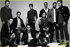 Jay Ryan (Beauty & the Beast) Stephen Amell (Arrow) Steven R. McQueen (Vampire Diaries) Dylan O'Brian (Teen Wolf) Harry Shum Jr (Glee) Tyler Blackburn (PLL) Justin Hartley (Emily Owens, M.D.) Taylor Kinney (Chicago Fire) Michael Trevino (Vampire Diaries)