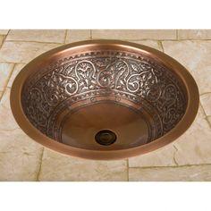 14 Quot Rozel Undermount Round Hammered Copper Sink