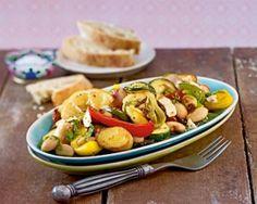 Antipasti-Salat aus dem Ofen