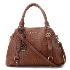 Cheap Michael Kors Bowling Ostrich Large Coffee Satchels Clearance