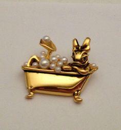 Vintage Signed Disney Piglet Tennis Character Brooch Pin | Piglets ...
