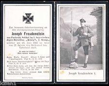 "WW1 GERMAN BAVARIAN JAEGER BATL. ""KOENIG"" DEATH CARD STERBEBILD"