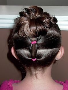 Shaunell's Hair: Little Girl's Hairstyles - How to do a Puffy Braid Updo 10-15 Min
