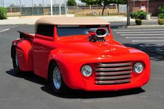 This 1948 Ford Roadster Truck was sent in by Dan Cunningham. What an amazing, beautiful ride this is! 1948 Ford Truck, Old Ford Trucks, Pickup Trucks, Hot Rod Trucks, Cool Trucks, Big Trucks, Custom Trucks, Custom Cars, Classic Trucks