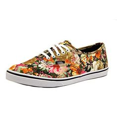 62e12b6798 Vans Unisex Authentic Lo Pro Floral CorianderTrue White Sneaker Mens 75 Womens  9 Medium     Find out more about the great product at the image link.