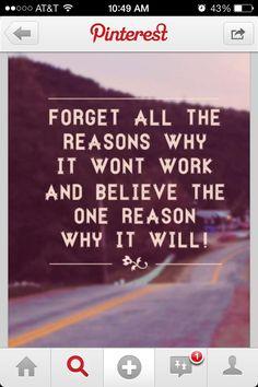 Believe The Reasons
