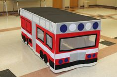Made to order Fire Truck Tablecloth Fort van MegAndMama op Etsy
