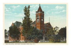 Winthrop College, Rock Hill, South Carolina Premium Poster  ~ Class of '69