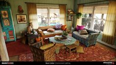 Boon Cotter: Light Magic with Uncharted 4 Uncharted 4 Nathan, My Living Room, Home And Living, Deco Gamer, A Thief's End, Surf Decor, Interior Architecture, Interior Design, Bohemian House