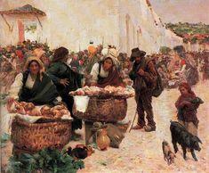 José Malhoa - The Padeiras Market in Figueiró. ++++++++++++++++++++ https://es.pinterest.com/carrerrec/food-cooking-feasting-fasting/