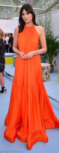 Bright, young things! Former Bond actress Gemma Arterton and party-hopper Lilah Parsons opted for vivid colours