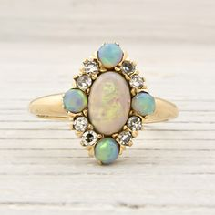 Vintage Gold and Opal Ring   Vintage & Antique Engagement Rings   Erstwhile Jewelry Co NY