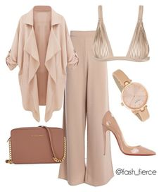 """Blush"" by chynabfierce ❤ liked on Polyvore featuring La Perla, Michael Kors, Christian Louboutin and Kate Spade"