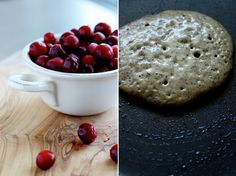 dirty chai pancakes + vanilla cranberry compote // The First Mess