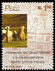2000: Alpaca Wool Industry (פרו) Mi:PE 1728,Sn:PE 1252b