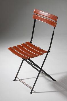 Folding chairs, Celestina. Designed by Marco Zanuso for Zanotta, Italy. 1970's.