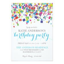 confetti party invitations - Google Search