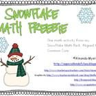 One activity from my Snowflake Math Pack.  Aligned to Common Core.  Perfect for math work stations or centers.  Response sheet included.Amanda My...