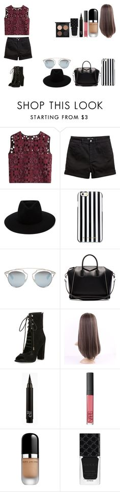 """Untitled #525"" by kalieh092 on Polyvore featuring Alberta Ferretti, rag & bone, MICHAEL Michael Kors, Christian Dior, Givenchy, Kendall + Kylie, NARS Cosmetics, Marc Jacobs, Gucci and MAC Cosmetics"