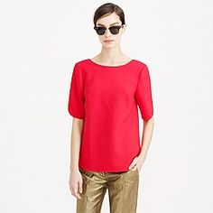 Collection crepe scoop-back top
