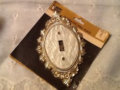 Electrical Switch Plate Cover Ornate Brass & by Thecountrylampshop