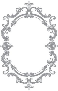 French Oval Frame | Pre-Cut Patterns
