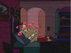 "Iphone Wallpaper - Lisa Simpson is sleepy head (""The Simpsons"") # Cartoon Wallpaper, Simpson Wallpaper Iphone, Sad Wallpaper, Wallpaper Iphone Cute, Tumblr Wallpaper, Aesthetic Iphone Wallpaper, Disney Wallpaper, Cute Wallpapers, Aesthetic Wallpapers"