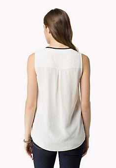 Cotton Viscose Sleeveless Top