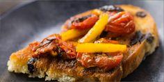 Roasted Cherry Tomato Bruschetta recipe from HERB