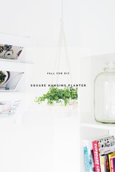 Fall For DIY Sqaure Hanging Planter DIY