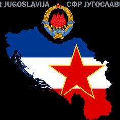 'SFR Yugoslavia - Map - Emblem - Flag' by enigmaart Live Tv Free, Socialist State, Communism, Bosnia, World War Ii, Stuff To Do, Flower Art, Childhood, Flag