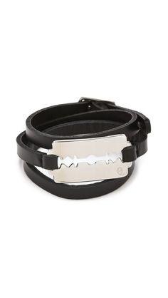 Alexander McQueen Razor Triple Wrap Bracelet